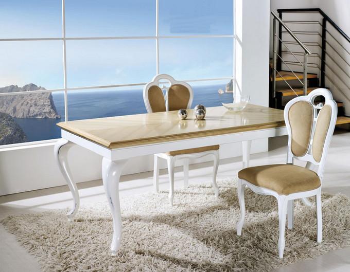 Collezione vanity tavolo laccato bianco invecchiato for Arredamento negri