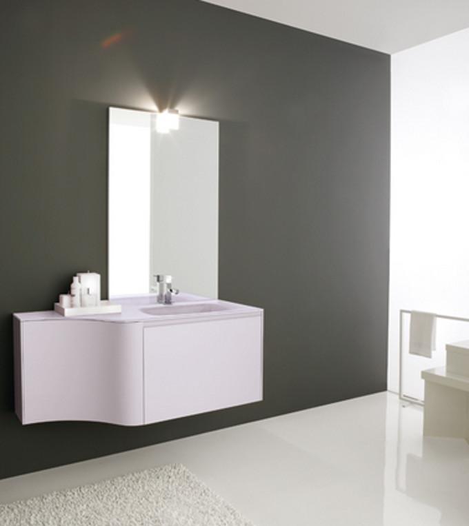 Lofty laccato grigio chiaro lucido azzurra negri mobili for Arredamento negri