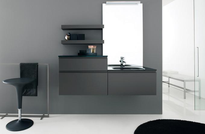 Lofty laccato nero opaco azzurra negri mobili bereguardo for Arredamento negri