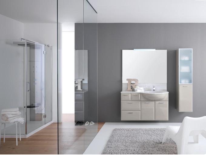 Marilu 39 laccato bianco conchiglia lucido azzurra negri mobili bereguardo arredamento provincia - Linea azzurra mobili ...