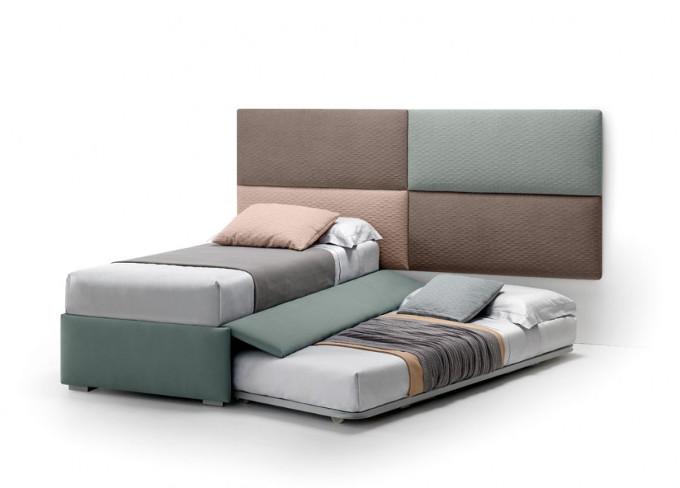 Lettino plain secondo letto stoffa sfoderabile samoa negri for Arredamento negri
